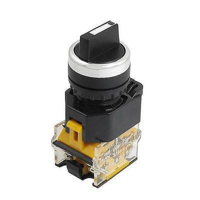 22mm Rotary Selector Switch 2 Position NC+NO Latching Self-Locking 10A