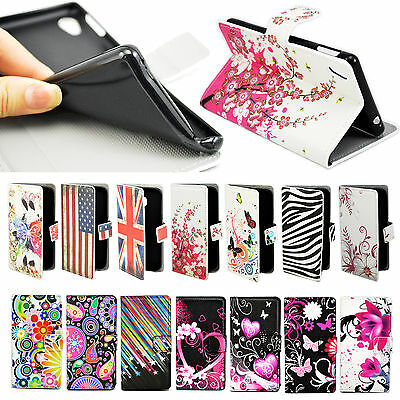 Premium PU Leather Wallet Cardholder Flip Case Cover for Samsung Sony HTC Huawei