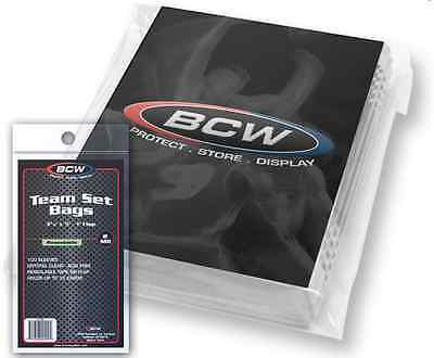 "(1000 Count) BCW Resealable Team Set Bags (10 Packs)  (3 3/8"" x 5"") Sports Cards"