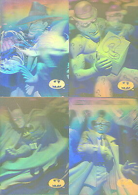 Batman Holo Series 1996 Parallel Gold Holo Action Insert Card Set H1 To H4