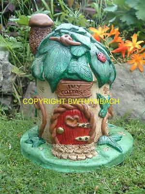 New Design Rubber Latex Mould Mold Moulds Ivy Cottage Fairy Faerie Fairie House