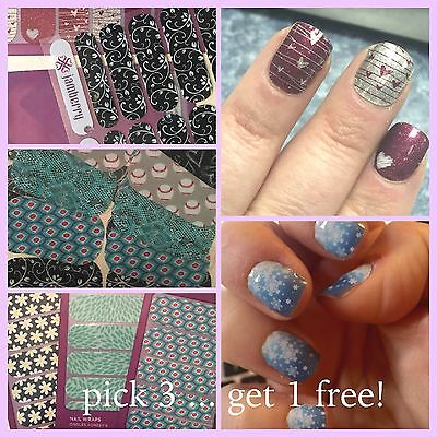 Jamberry Nail Wrap Lot Buy 3 get 1 Free FULL Sheets YOUR CHOICE & FREE SHIPPING