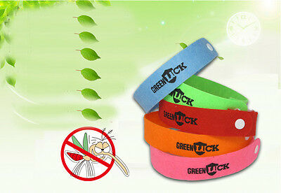 10 x New Natural Lemongrass Wristband Mosquito Repellent Bracelet From Insect