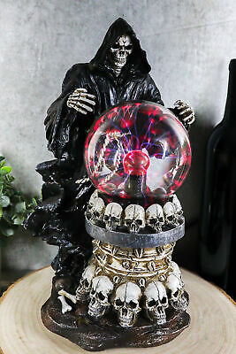 Grim Reaper Destroyer of Life Hell Demon AC Flashing Electric Ball Figurine
