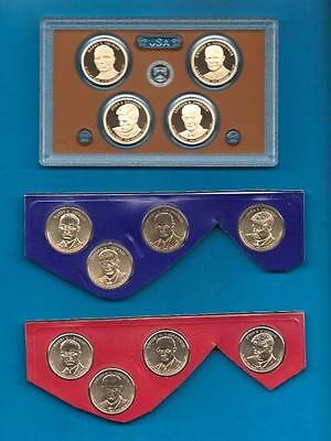 2015 P D and S BU and  Proof Presidential Dollar Set-12 Coins PD from Mint set