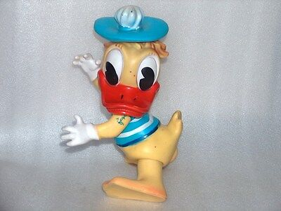 Vintage Donald Duck Rubber Toy Doll