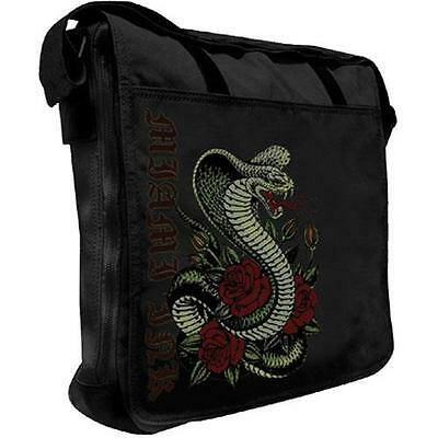 Miami Ink - Black Snake Messenger Bag / Satchel - New & Official With Tag