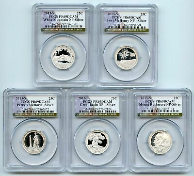 2013 S Silver National Parks Quarter Set PCGS PR69DCAM