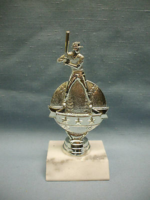 Baseball 3 star  trophies silver marble base male