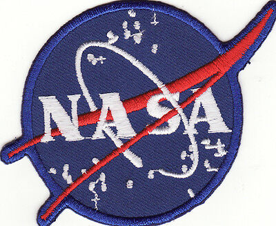 "NASA 3 1/4"" Space Program Embroidered Iron On Patch *New*"