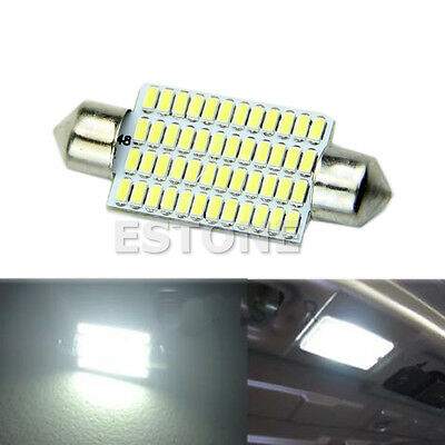 42mm 48 LED 3014 SMD White Car Interior Light Festoon Dome Bulbs Lamp 12V