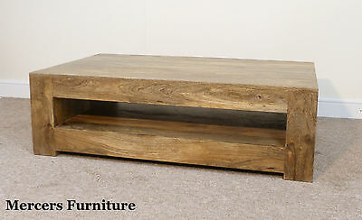 Mercers Furniture Mantis Mangowood Coffee Table & Shelf