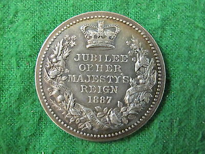 1887 Jubille By Pinchles London Silver Rare Medallion RDL3318