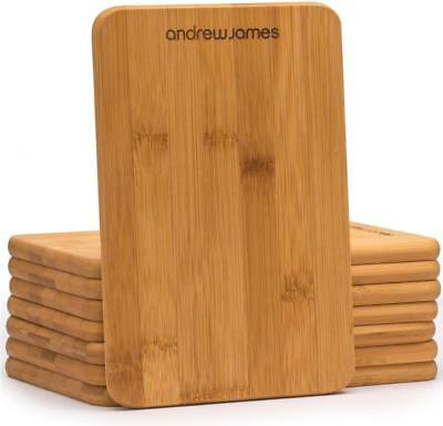 Andrew James Wooden Chopping Board Set of 8 Serving Platters Cutting Slicing