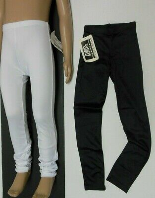 NWT Dance Spandex Low Rise Skinny Pants Black or White Adult/Child Szs  86839
