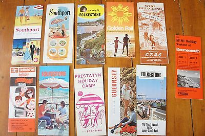 Holiday British Rail Railway Leaflets Publicity Booklets Timetables Southport