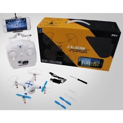 Cheerson CX-30W RTF WiFi FPV Blue Quadcopter w Battery + Charger Camera