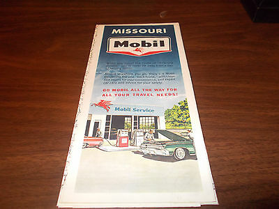 1964 Mobil Missouri Vintage Road Map