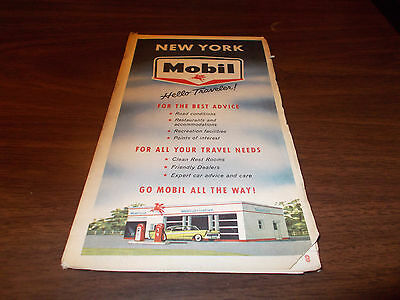 1959 Mobil New York Vintage Road Map