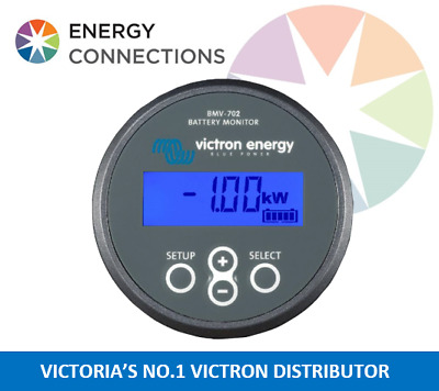 Victron Battery monitor BMV 702 complete kit allows monitoring of 2 Batteries