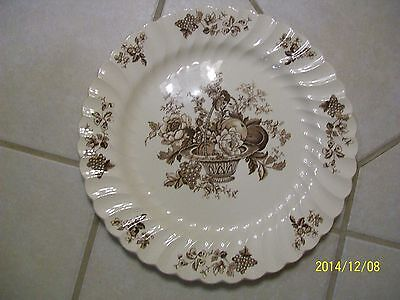 Vintage Staffordshire Charger Plate Myott Son Co Bountiful England Brown