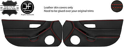Red Stitch 2X Full Door Card Leather Skin Covers Fits Honda Crx Del Sol 92-97