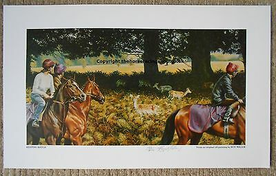 Keeping Watch by Roy Miller Fine Art Limited Edition Horse Racing Print