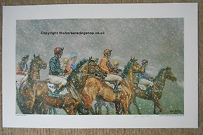 Sudden Blizzard  by Roy Miller Fine Art LE Horse Racing Picture