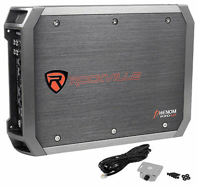 Rockville RXD-M1 2000 Watt/1000w RMS Mono Class D 1 Ohm Amplifier Car Audio Amp