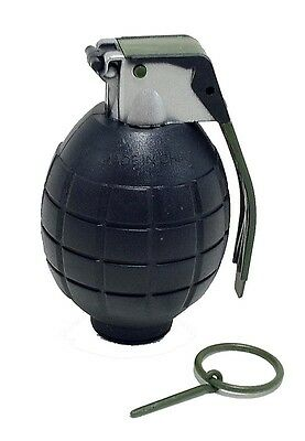 Toy Black Grenade for Pretend Play with Ticking Exploding Sounds