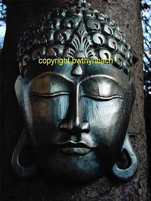 New Rubber Latex Mould Mold Moulds Large Religious Buddha Head Wall Plaque 6