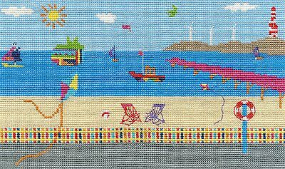 Sea View Cross Stitch Kit By DMC Using 14 Count Size 20cm Square BK1554