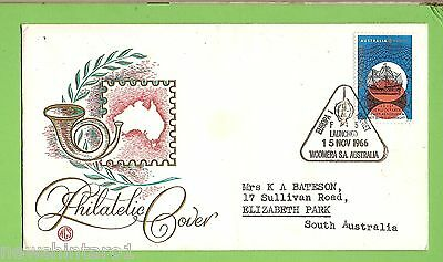#d160. 1966 Stamped Envelope, Cancelled Woomera, Europa 1