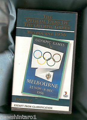 #zz. Double 1956 Melbourne Olympic Games  Vhs Video Tape