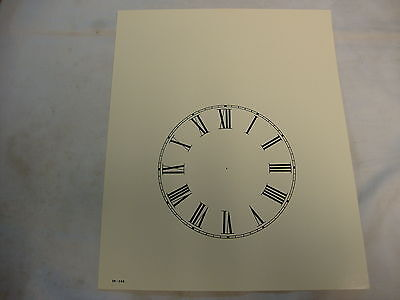 Paper Steeple Clock Dial 4 1/4 New  Wall Clock Parts