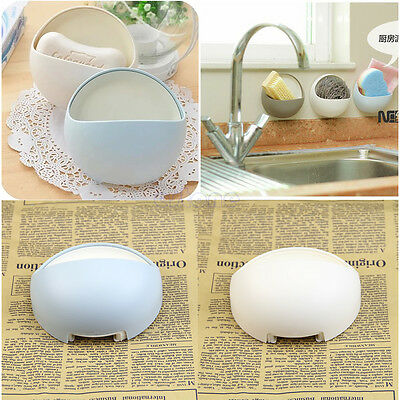 Suction Wall Soap Holder Bathroom Shower Cup Dish Basket Tray Strong New