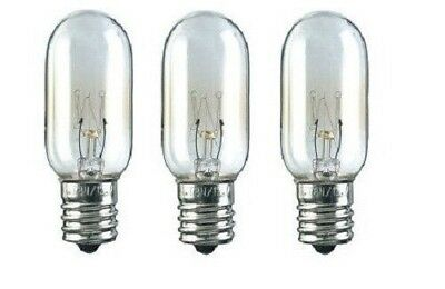 GE 40W 130V Microwave Light Bulb WB36X10003 Replacement 3 Pack - NEW
