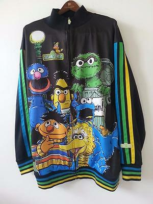 Sesame Street Mens Jacket size 4X Six Character Front Zip Limited Edition Rare