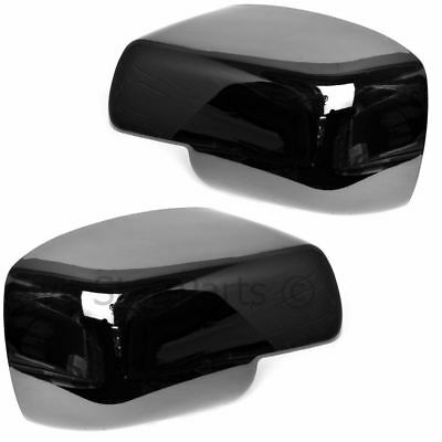 Black Full Glossy Wing Door Mirror Covers for Land Rover Discovery 3 2005-2009