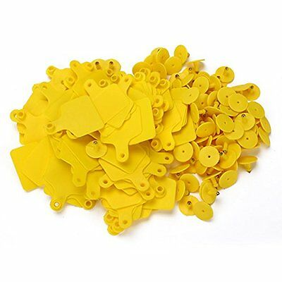 Cow Cattle Blank Large Livestock Ear Tag With Yellow Color Pack Of 100