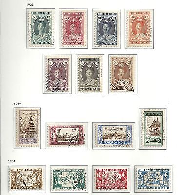 Netherlands Indies stamps 1923 NVPH 160-170+172-175  CANC  VF  Cat.Value $335
