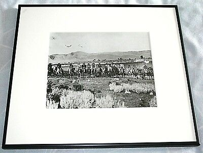 Charles Russell Framed Photograph (Copy) of Ute Indians Shoshone Nation