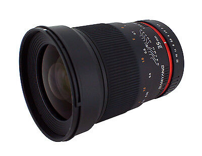Samyang 35mm F1.4 Wide Angle Lens for Nikon Digital SLR with Auto Chip