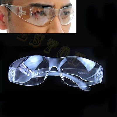 Clear Safety Eyes Protective Goggles Glasses Anti-fog Dust Lab Medical Eyewear