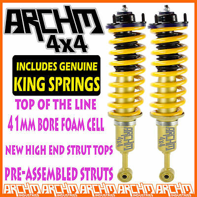 HOLDEN RG COLORADO FRONT ARCHM4x4 LIFTKIT KING SPRINGS / STRUTS / SHOCK ABSORBER