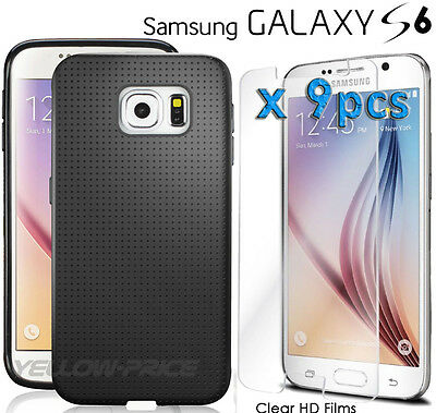 GALAXY S6 Case,[+HD Clear Screen Protector] Ultra Thin Matte Soft Rubber Cover