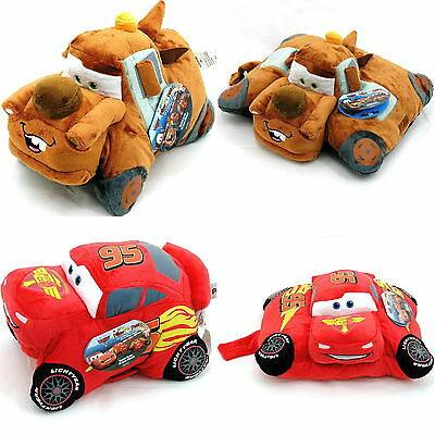 "18"" Disney Pixar Cars Pillow Pet Super Soft Fleece Mater Lightning McQueen Finn"