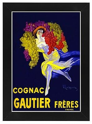 AD28 Vintage 1900/'s French Cognac Drink Gautier Freres Advertisment Poster A4