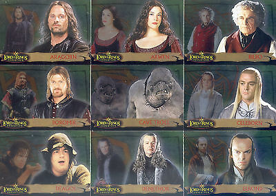 Lord Of The Rings Evolution 2005 Topps Base Card Set Of 72 Movie