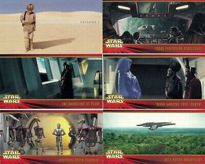 Star Wars Episode 1 Series 1 Widevision 1999 Topps Complete Base Card Set Of 80